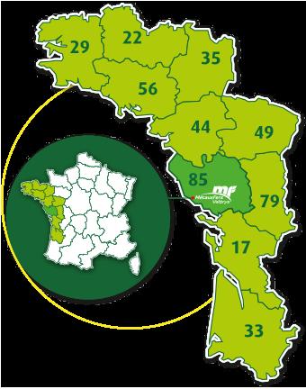 Metaux Fers Valorys - Zones desservies - Collecte, traitement & valorisation des déchets